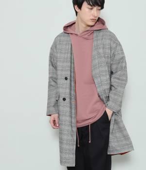 JUNRed - ジュンレッド   【予約】リバーシブルノーカラーダブルコート
