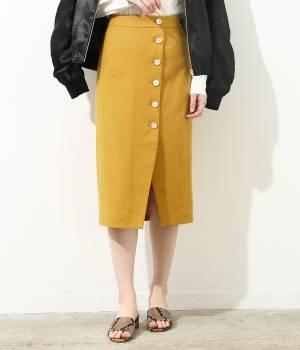 ROPÉ mademoiselle - ロペ マドモアゼル | 【予約】サイドボタンムジタイトスカート