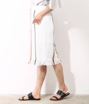 ROPÉ - ロペ | 【セットアップ対応】【Made in YONETOMI】マルチストライプニットスカート