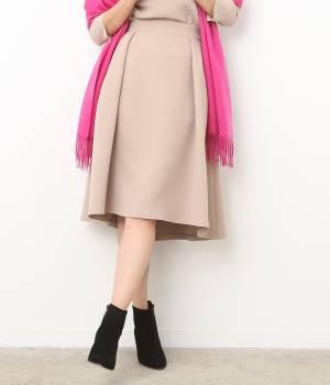 ROPÉ - ロペ | 【トールサイズ】ダブルクロスインタックアシメヘムスカート