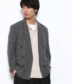 JUNRed - ジュンレッド   【予約】TRグレンチェックダブルジャケット
