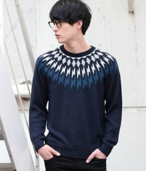 JUNRed - ジュンレッド   【MonoMax 12月号掲載】ダイナホット球心柄ニット