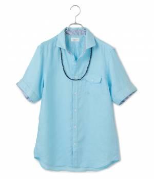 JUNRed - ジュンレッド | フレンチリネンオーバーダイ半袖シャツ