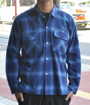 JUNRed - ジュンレッド   ネルオンブレオープンカラーシャツ