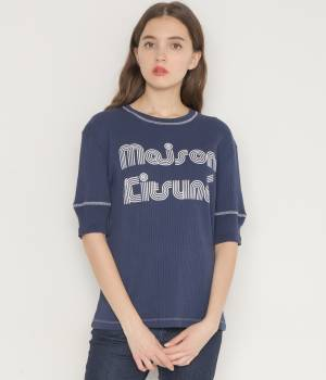 MAISON KITSUNÉ PARIS WOMEN - メゾン キツネ ウィメン | 【今だけ!J'aDoRe限定10%OFF】RIBBED TEE-SHIRT  STRIPED MK