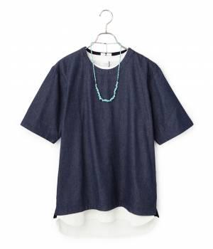 JUNRed - ジュンレッド | 【今だけ!WEB店舗限定49%OFF】デニム布帛コンビTシャツ