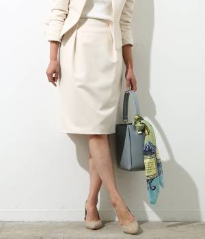 ROPÉ - ロペ | 【トールサイズ】グログランタックタイトスカート