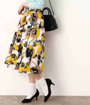 ViS - ビス | アートフラワーギャザースカート