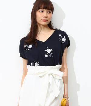 ViS - ビス | 【2WAY】花刺繍プルオーバー