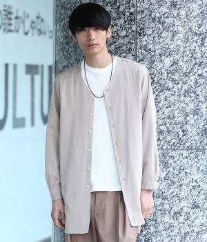 JUNRed - ジュンレッド | 綿レーヨン混ロングシャツ