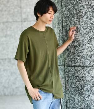 JUNRed - ジュンレッド | イレギュラーパネルハニカム半袖Tシャツ