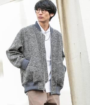 JUNRed - ジュンレッド   【MonoMax 12月号掲載】ヘリンボーンフリースBIG MA-1