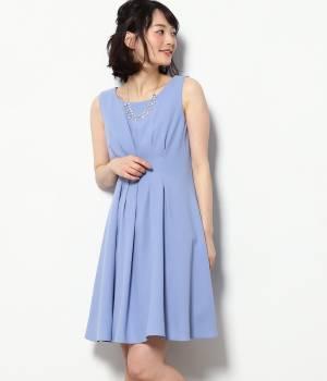 ViS - ビス | 【WEDDINGS&PARTIES】ネックレス付きタックドレス