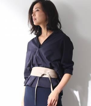 ROPÉ - ロペ | 【Oggi5月号掲載】【トールサイズ】リネン混スキッパーシャツ