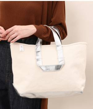 SALON adam et ropé WOMEN - サロン アダム エ ロペ ウィメン | 【別注】【MANUFACTURED BY SAILOR'S】SILVER TOTE BAG(M)