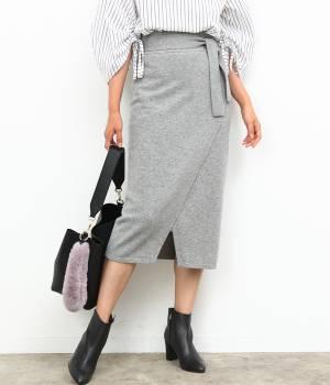 ROPÉ - ロペ | 【Oggi11月号掲載】【InRed11月号掲載】【トールサイズ】フロントスリットニットスカート