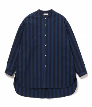 JUNRed - ジュンレッド | 【先行予約】バンドカラーBIGストライプシャツ