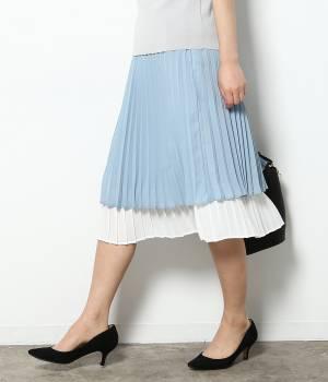 ViS - ビス | バイカラープリーツスカート