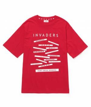 JUN SELECT - ジュンセレクト   SPACE INVADERSコラボTシャツ 「コラージュ」