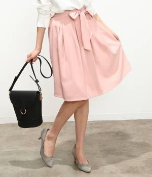 ViS - ビス | ジョーゼットリボン付スカート