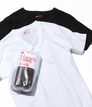 SALON adam et ropé WOMEN - サロン アダム エ ロペ ウィメン | 【HANES】T-SHIRTS Japan Fit 2PAC FOR MEN (Vネック)