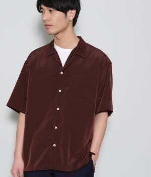 JUNRed - ジュンレッド   【予約】ドレープオープンカラー半袖シャツ
