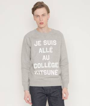 MAISON KITSUNÉ PARIS MEN - メゾン キツネ メン | PERM SWEAT SHIRT JE SUIS ALLE