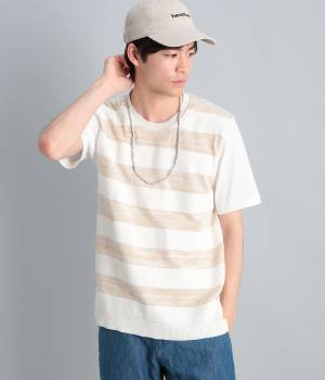 JUNRed - ジュンレッド | ボーダーニットコンビTシャツ