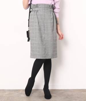ViS - ビス | チェックサイドベルトタイトスカート