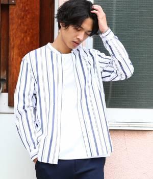 JUNRed - ジュンレッド | 【先行予約】【トレンドストライプ】バンドカラーシャツ
