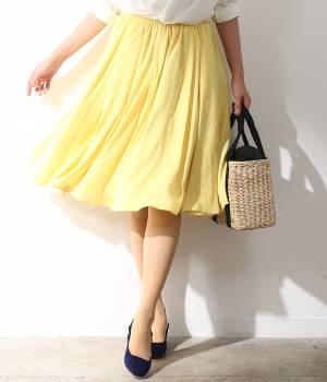 ROPÉ - ロペ | 【トールサイズ】マットサテンギャザースカート