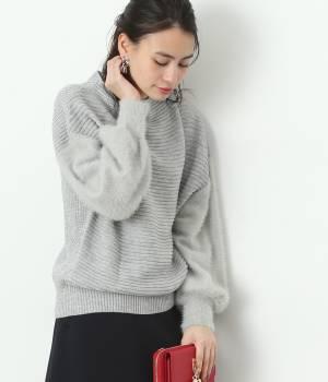 ViS - ビス | 【sweet12月号掲載】【2WAY】袖フェザーヤーンボトルネックプルオーバー
