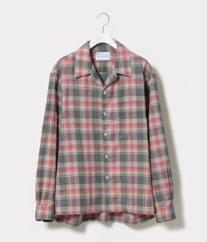 ADAM ET ROPÉ HOMME - アダム エ ロペ オム | 【予約】【WEB限定】オンブレチェックオープンカラーシャツ