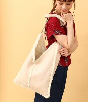 ViS - ビス   【先行予約】【WEB限定】【CASSELINI】フェイクムートンショッパーバッグ