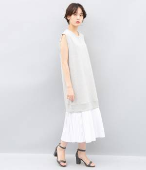 ADAM ET ROPÉ FEMME - アダム エ ロペ ファム | 【MM6】Sleeveless sweat shirts dress Pleated