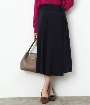 ViS - ビス | 【sweet11月号掲載】ベルト付きラップ風ミモレ丈スカート