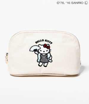 Adam et Ropé Le Magasin - アダム エ ロペ ル マガザン | 【Sweet1月号掲載】【HELLO KITTY×LE MAGASIN】刺繍ポーチ