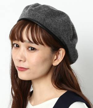 ViS - ビス   ウール混パイピングベレー帽