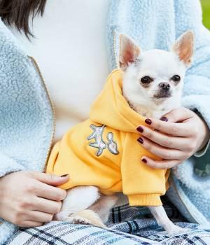 ROPÉ PICNIC PASSAGE - ロペピクニックパサージュ   【DOG】花柄/ストライプ切替パーカー