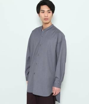 JUNRed - ジュンレッド   【予約】バンドカラーTRロングシャツ