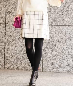 ROPÉ - ロペ | 【トールサイズ】ウインドペーンシャギースカート