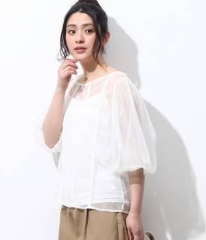ViS - ビス | 【SET】キャミ付チュールバルーン袖プルオーバー