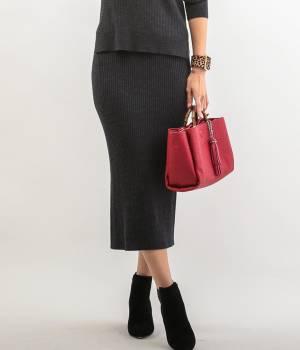 ROPÉ - ロペ | 【トールサイズ】【セットアップ対応】タイトミディリブニットスカート