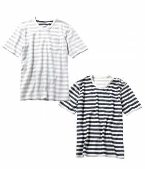 JUNRed - ジュンレッド | TIME SALE ITEM!ヘリンボンボーダーリバーシブルTシャツ