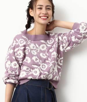 ViS - ビス | 【2WAY】花柄ジャガードプルオーバー