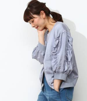 ViS - ビス | 【今だけ!WEB店舗限定10%OFF】袖フリル7分袖ブルゾン