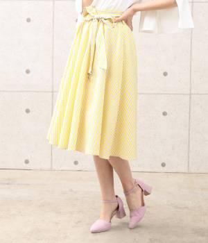 ViS - ビス | 【sweet4月号掲載】リボン付ストライプギャザースカート