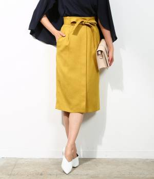 ROPÉ - ロペ | 【先行予約】【セットアップ対応】【イージーケア】リネン風フロント開きタイトスカート