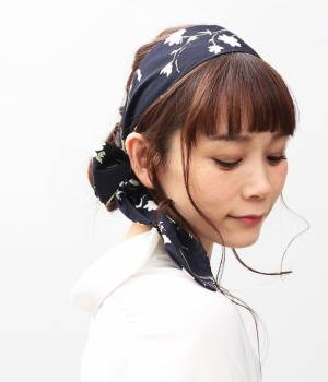 ViS - ビス | 小花柄ナロースカーフ