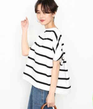 ADAM ET ROPÉ FEMME - アダム エ ロペ ファム | 【Traditional Weatherwear】BOATNECK SHORTSLEEVE TOP